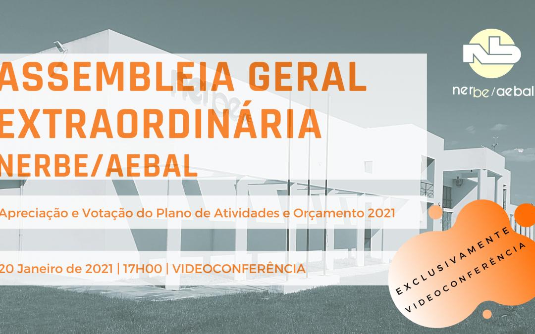 Assembleia Geral do NERBE/AEBAL | 20 Janeiro | Videoconferência