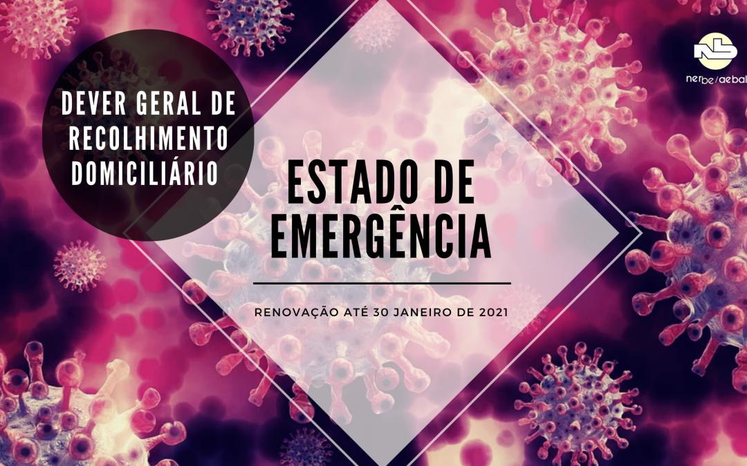 Estado de Emergência | Dever de Recolhimento