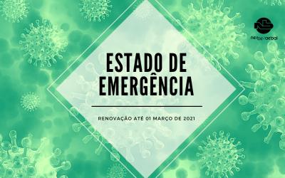Renovação do estado de emergência até 1 de março