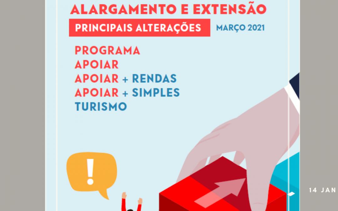 Programa APOIAR – Alargamento e extensão
