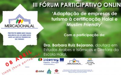 III FÓRUM PARTICIPATIVO ONLINE | Adaptação de empresas de turismo | 8 Abril