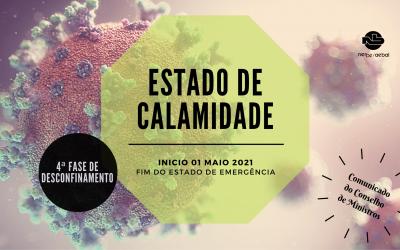 Estado de Calamidade | Comunicado do Conselho de Ministros de 29 de abril de 2021