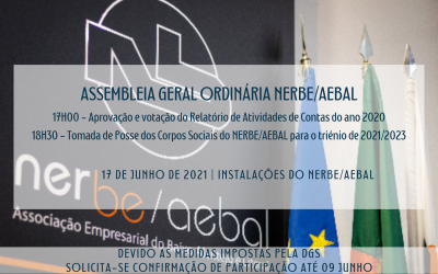 Assembleia Geral Ordinária NERBE/AEBAL |  Tomada de Posse dos Corpos Sociais | 17 Junho